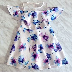 ✨2 for 25✨ Girls George White Floral Spring Dress
